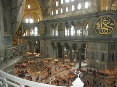 View from the upper balcony of Hagia Sophia