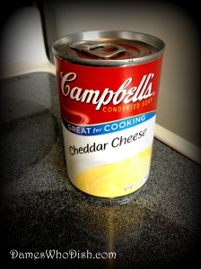 Just in case you've never used it, this is the Campbell's Cheddar Cheese Soup.
